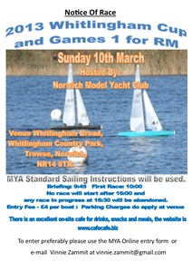 2013 Whitlingham Cup