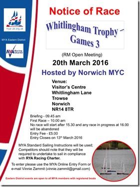 Whitlingham Trophy