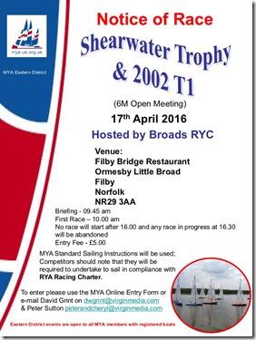 Shearwater Trophy2016