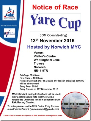 Yare Cup 2016