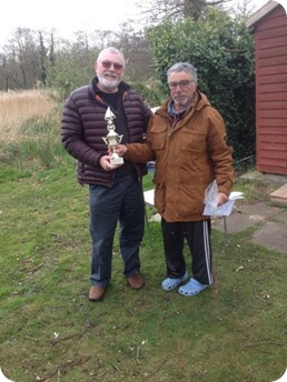 Terry Burton - winner of the Shearwater Trophy