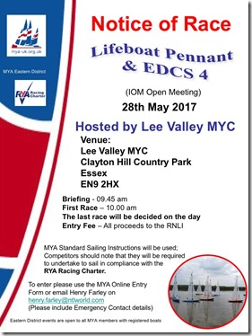 Lifeboat Pennant Trophy 2017